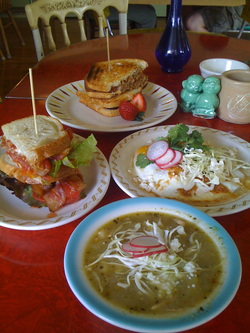 Food at Happy Gillis Cafe & Hangout