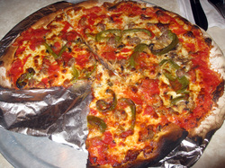 Food at John's Pizzeria of Bleecker Street