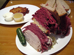 Food at Carnegie Deli